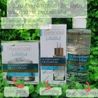 bielenda xanh dưong (combo) dưỡng ẩm phục hồi chuyên sâu