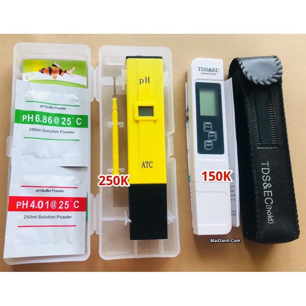 Combo 1 bút đo thông số EC & TDS và 1 bút đo độ PH - Dụng Cụ Đo Độ PH, máy đo nước sạch