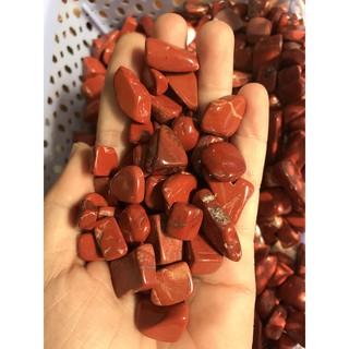 Đá vụn Jasper màu đỏ tư nhiên, túi 100g thumbnail
