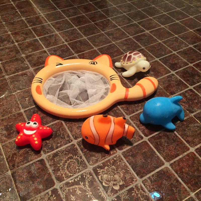 [Thank You] - Bộ đồ chơi phòng tắm mèo vớt cá cho bé