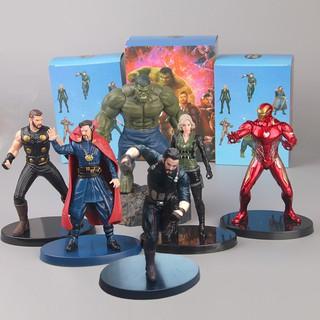Mô hình (Figure) Avengers Hulk, Iron man, Captain, Thor, Doctor Strange, Black Widow 16-19cm có hộp
