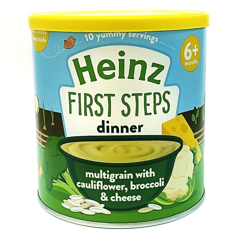 Bột ngũ cốc súp lơ bông cải phô mai Heinz 6M+ 200g