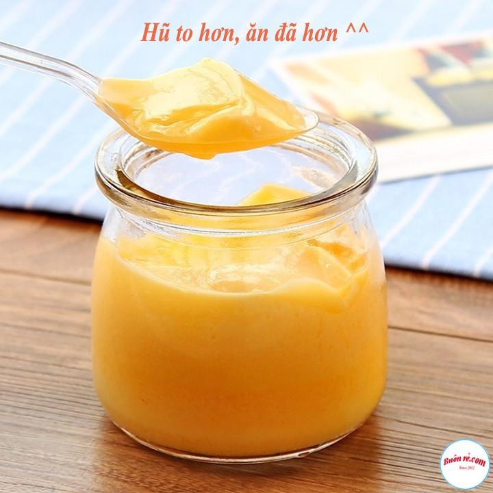 Combo 5 Hũ Thủy Tinh 200ml Tròn Làm Sữa Chua, Caramen, Pudding,… - br00637