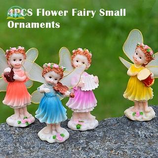 NIXDR Mini Flower Fairy Ornaments Small Resin Ornament Statues for Car Home Decoration