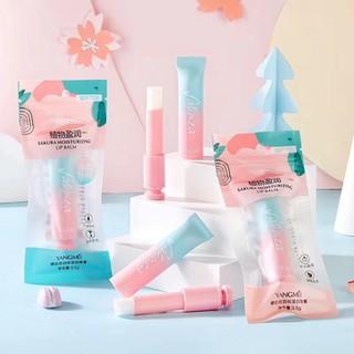 Son dưỡng môi Sakura xanh hồng kem vỏ siêu cưng nội địa chính hãng