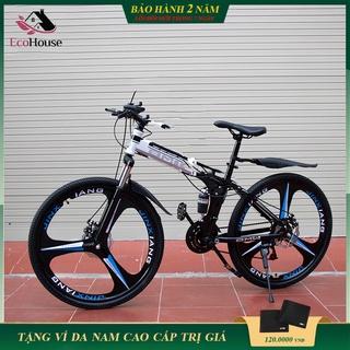 Xe đạp thể thao, xe đạp địa hình gấp gọn BMW mâm bánh đúc khung thép siêu bền phanh đĩa cơ học 7 cấp độ, bảo hành 2 năm thumbnail