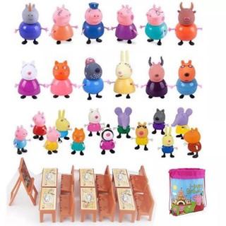 Lớp học Peppa Pig – Loại lớn 21 chú heo + Bộ bàn ghế học