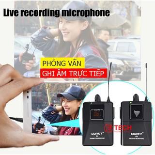 Micro phỏng vấn không dây CORKT– Micro thu âm cài áo không dây cho điện thoại, máy ảnh, máy quay phim