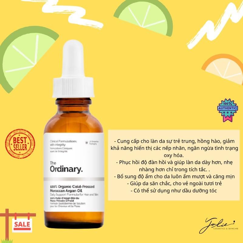 (Bill UK) The Ordinary - Tinh dầu dưỡng 100% Organic Cold-Pressed Moroccan Argan Oil (Argan hữu cơ ép lạnh) - 30ml