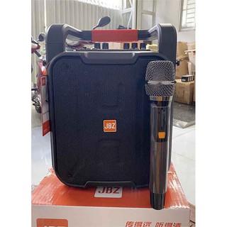 Loa kéo di động karaoke JBZ JB+0608 Micro kim loại thay đổi tầng số, thiết kế siêu đẹp, có dây đeo, Bass 20CM Chính hãng