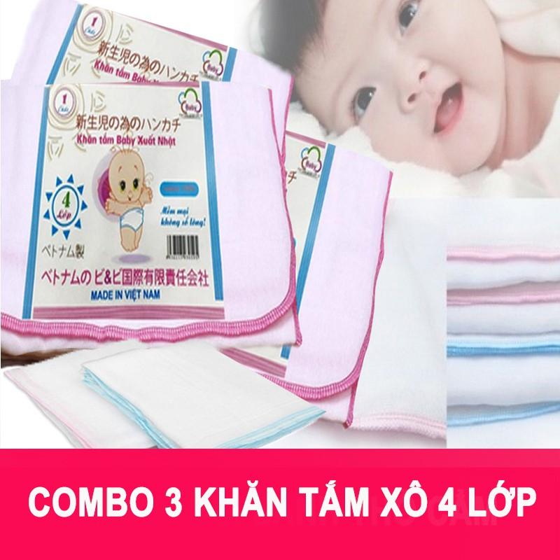 Combo 3 khăn tắm xô trắng xuất Nhật 4 lớp cao cấp - 3299125 , 1027866601 , 322_1027866601 , 140000 , Combo-3-khan-tam-xo-trang-xuat-Nhat-4-lop-cao-cap-322_1027866601 , shopee.vn , Combo 3 khăn tắm xô trắng xuất Nhật 4 lớp cao cấp