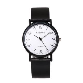 Đồng hồ nam nữ MSTIANQ dây cao su mặt số thanh lịch