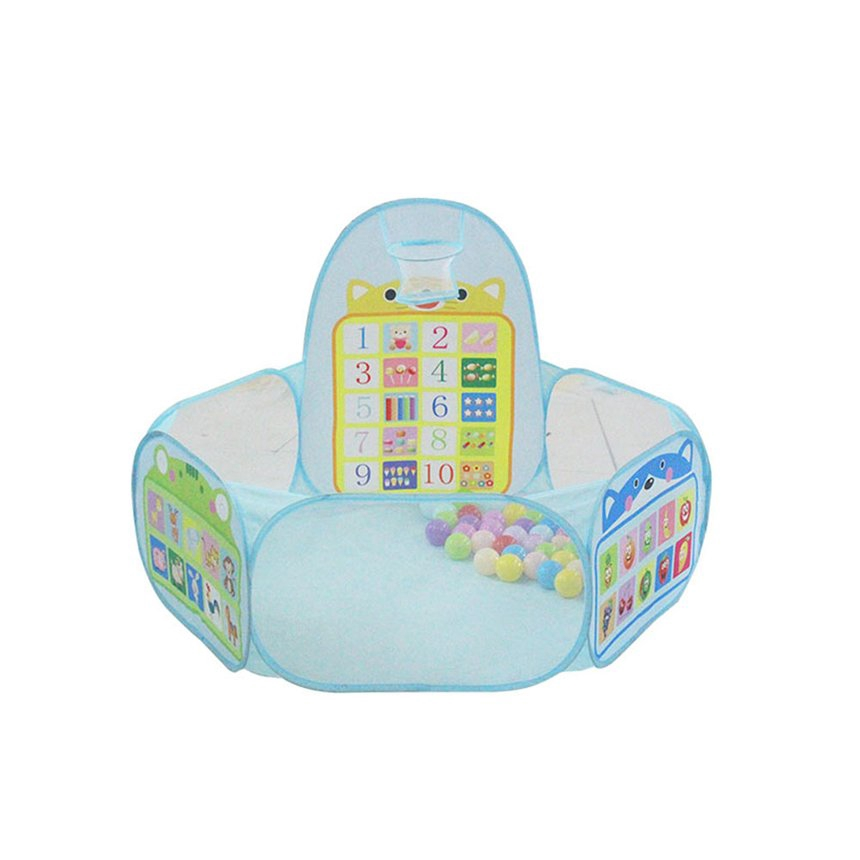 Baby Numeral Balls Pool Children Kids Toy Play Tent House With Ball Frame