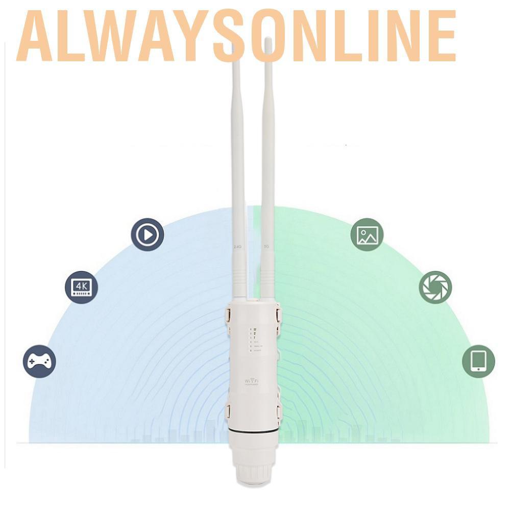 Bộ Khuếch Đại Sóng Wifi Không Dây 2.4g + 5g 100-240v