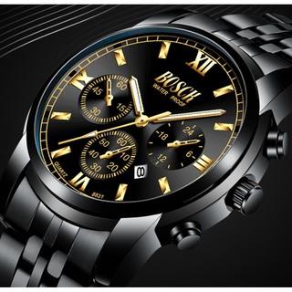 Đồng hồ nam rẻ đẹp BOSCK BO03 chính hãng, dây thép không rỉ, có lịch ngày tiện lợi, chống nước tốt thumbnail