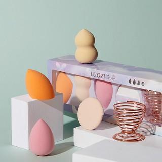(hàng Mới Về) Mút Trang Điểm Bằng Cotton Hình Quả Trứng Kèm Giá Đỡ Tiện Dụng