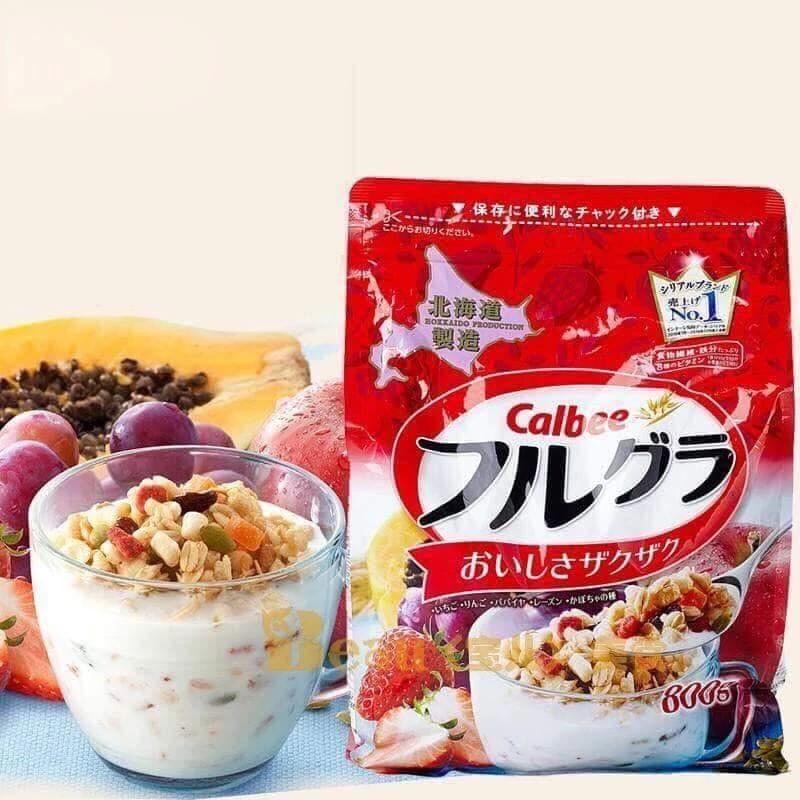 Ngũ cốc Calbee 800gr màu đỏ - Nhật Bản[ Date 12/2020] | Shopee ...