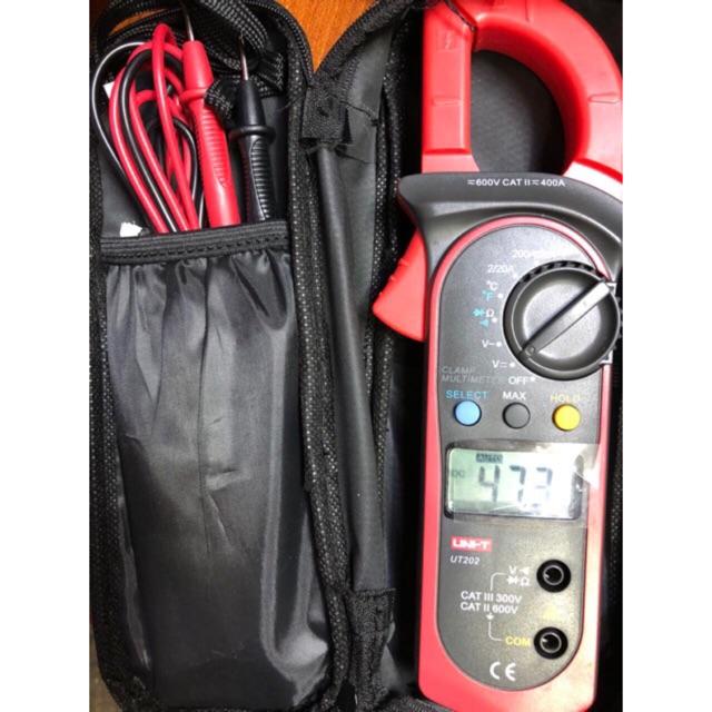 Đồng hồ Ampe kìm kẹp dòng Uni-T UT202 có đo nhiệt độ