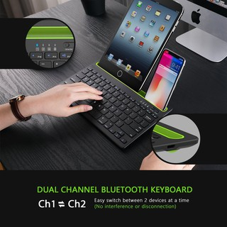 Bàn Phím Bluetooth Bk230 Kết Nối Với Điện Thoại, Máy Tính Bảng - Bàn Phím Không Dây Hoạt Động Đồng Thời Trên 2 Thiết Bị thumbnail