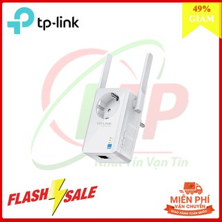 TP-Link N 300Mbps Bộ mở rộng sóng Wi-Fi Tích hợp ổ cắm điện-TL-WA860RE – Hàng Chính Hãng