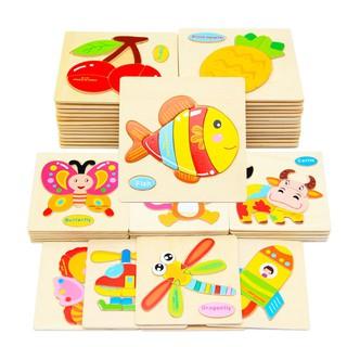 Đồ chơi xếp hình cho trẻ em 💖 FREESHIP Từ 250K 💖 Đồ Chơi Tranh Ghép Hình Phương Tiện Giao Thông 3D Bằng Gỗ(Ngẫu Nhiên)