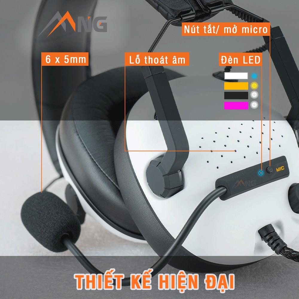 Tai nghe chụp tai chơi game có dây Edra EH492 dành cho game thủ,có micro, màu đen, trắng, hồng, vàng