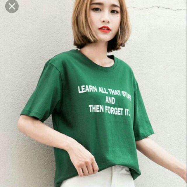 Áo thun nữ  xanh  lá cây