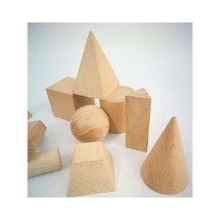 Bộ 12 hình khối gỗ mộc