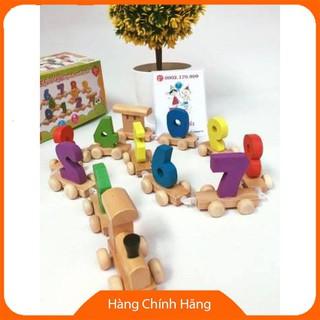 Đoàn tàu số – đồ chơi giáo dục gỗ an toàn (loại đẹp)