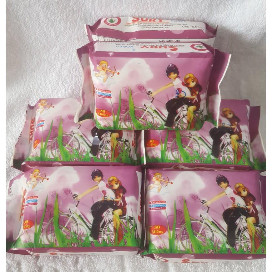 khăn ướt SURY Korea 30 miếng