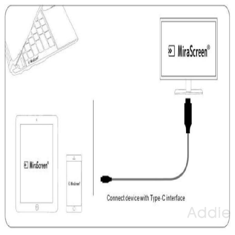 Type-c To Hdmi Mobile Computer Adapter 4k30hz Cable 591