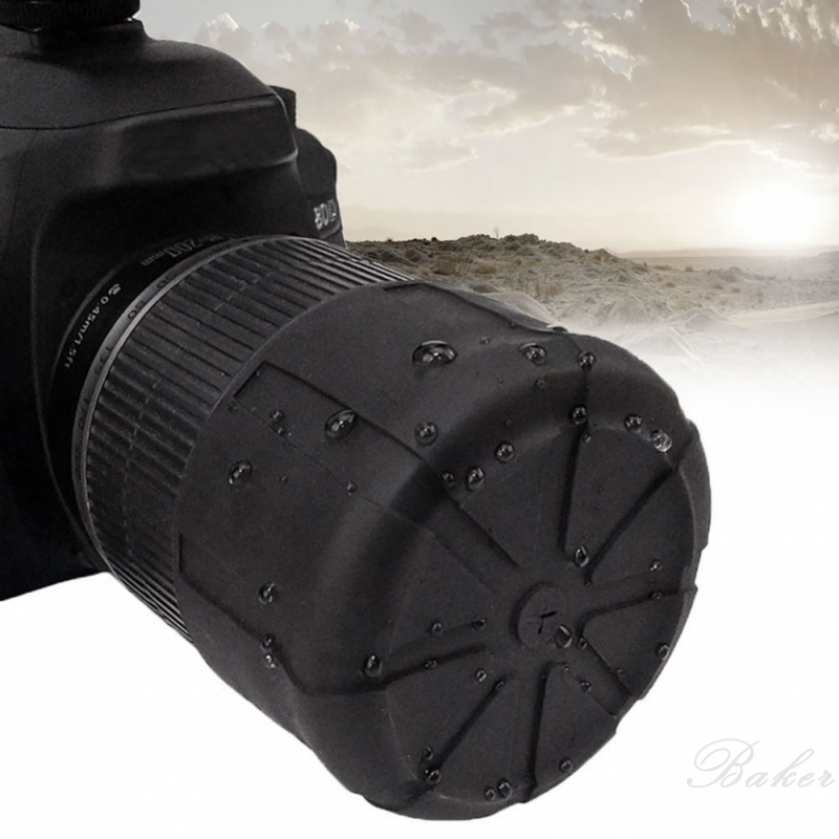 Baker Waterproof SLR Silicone Camera universal cover Lens Cap Holder Cover