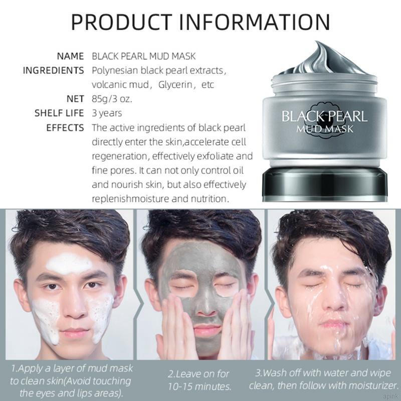 Kết quả hình ảnh cho mặt nạ black pearl mud mask