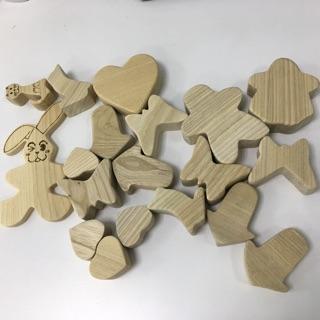 Khối gỗ cho bé (19 khối)