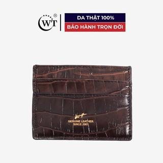 Ví Đựng Thẻ Da Bò Cao Cấp Màu Nâu WT Leather 0949.1 thumbnail