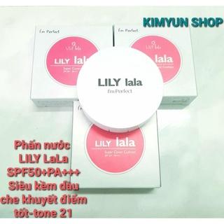 PHẤN NƯỚC LILY LaLa Super Cover Cushion SPF50+ PA+++ TONE 21 mỏng mịn dưỡng ẩm sâu kiềm dầu tốt thumbnail