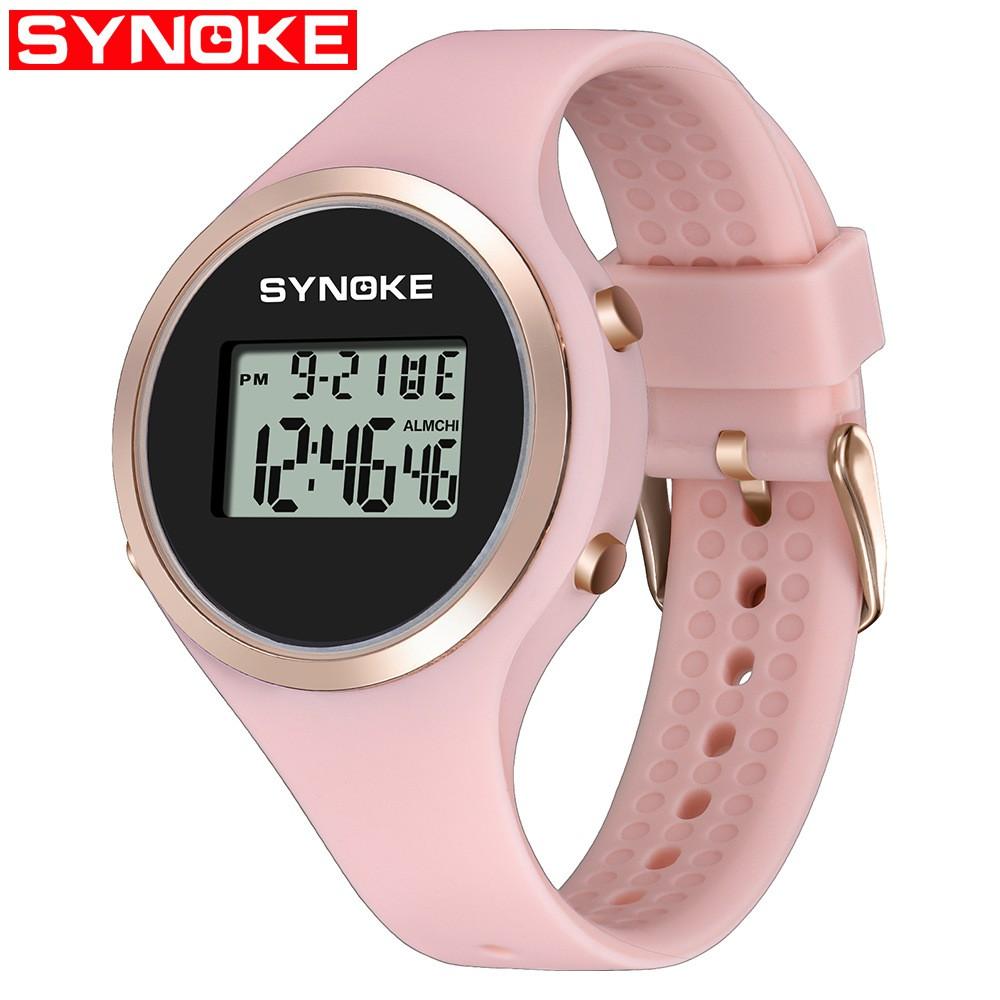 Đồng hồ điện tử thể thao thời trang nữ dây cao su SYNOKE PKHRSNK002 (44 mm)