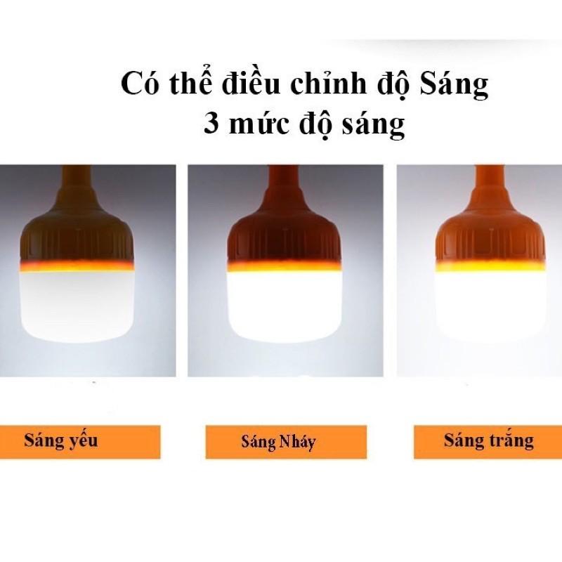 Bóng đèn tích điện 6-8h - loại 60w sạc tích điện có móc treo