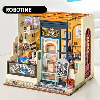 Mô hình nhà búp bê Robotime – Cửa hàng Bánh – Tặng Dụng cụ và keo dán – Mã DG143