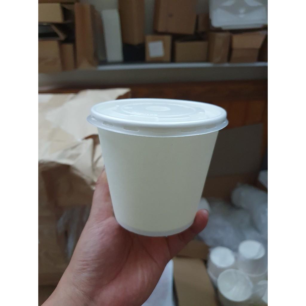 [ SỐC] 50 Bát giấy trắng có nắp đựng đồ ăn 475ml
