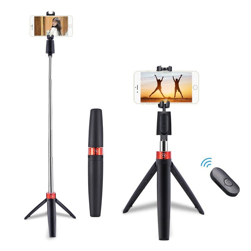 🌞 Gậy Selfie Bluetooth Y9 -K07 Kèm Remote Bluetooth Điều Chỉnh Độ Cao Nhỏ Gọn Chắc chắn Tiện Lợi Bỏ Túi🌞