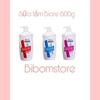 Sữa tắm Biore kháng khuẩn bạc hà- sạch mịn- Năng động -800g thumbnail