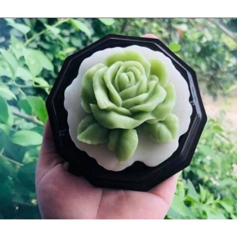 Khuôn Silicon hoa Hồng Có lá 5,5cm- khuôn rau câu - Khuôn trung thu hiện đại