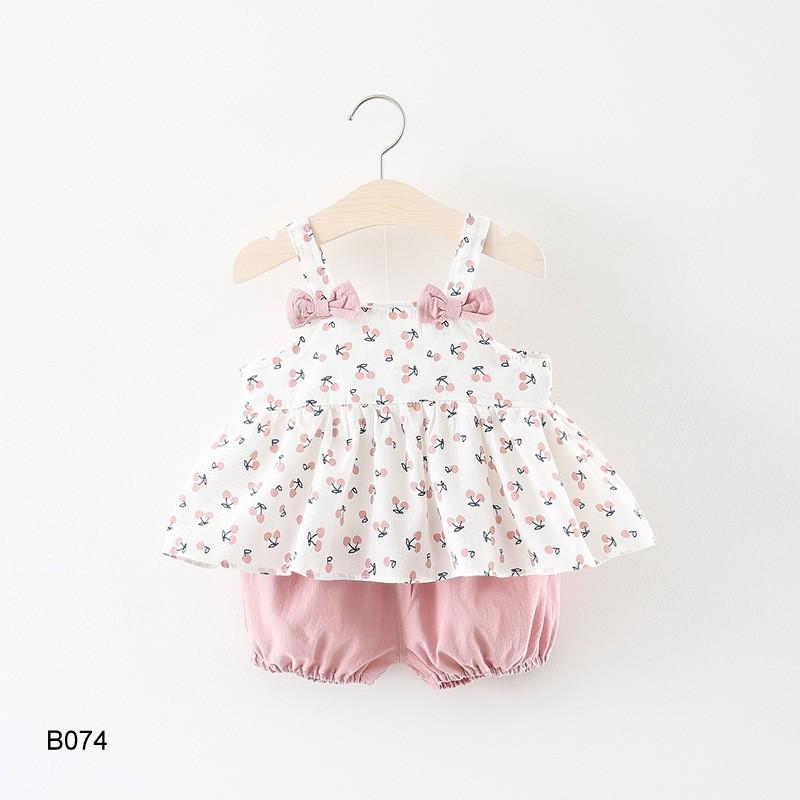 Set đồ bộ bé gái 12-13kg hàng Quảng Châu B074