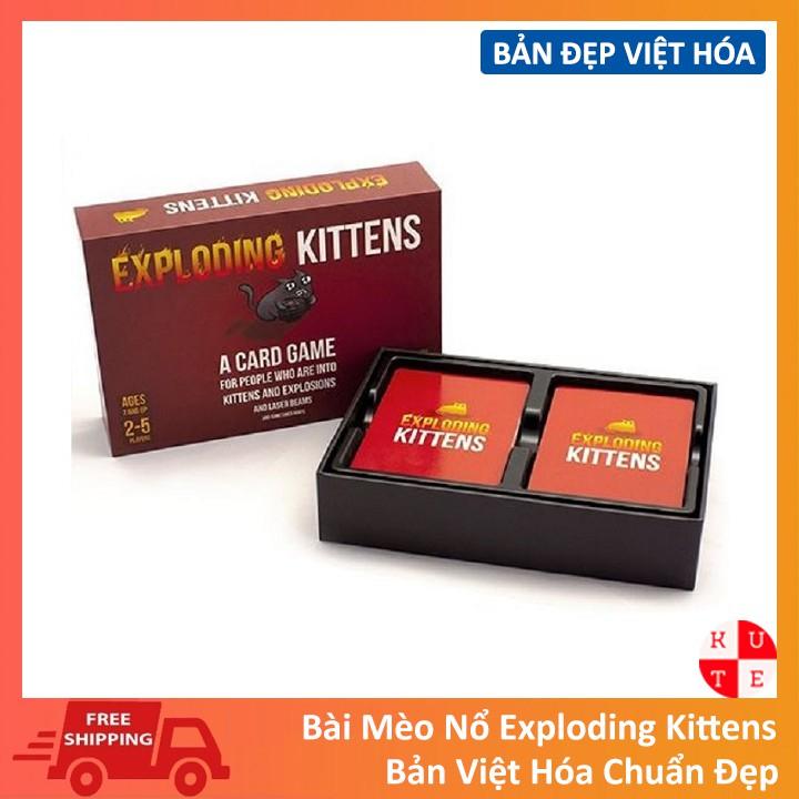 Mèo Nổ Cơ Bản Mèo Nổ Việt Hóa Exploding Kittens Tiếng Việt