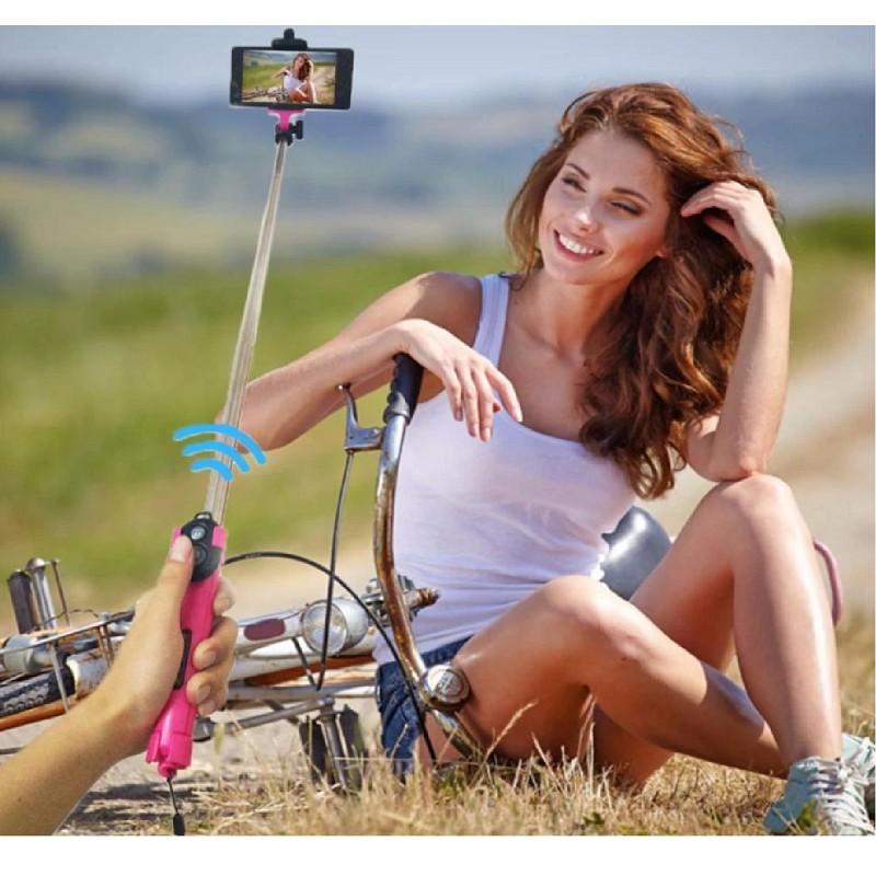 Gậy chụp ảnh Selfie Bluetooth 3 trong 1 kèm chân đế(xanh),, - 3046115 , 709416995 , 322_709416995 , 55000 , Gay-chup-anh-Selfie-Bluetooth-3-trong-1-kem-chan-dexanh-322_709416995 , shopee.vn , Gậy chụp ảnh Selfie Bluetooth 3 trong 1 kèm chân đế(xanh),,