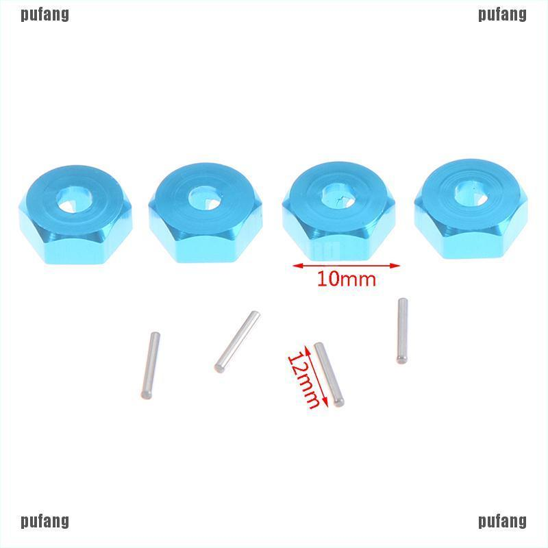 {pufang}4Pcs Wheel Hex 12mm Drive Hubs Hexagonal Adapter for Wltoys 12428 1:12 FY03 Part