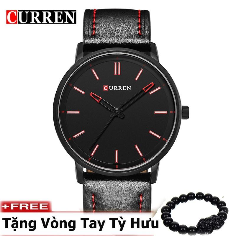 Đồng hồ nam dây da cao cấp CURREN ( Mặt đen )