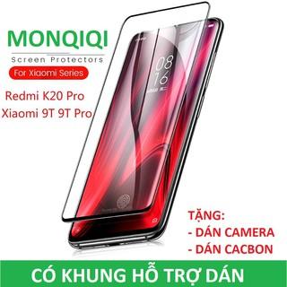 """Redmi K20/ Mi9T/ K30/ K30 Pro/ Note9s Cường Lực MONQIQI Full Màn (Có Khung Dán, Dán Camera, Dán Cacbon) giá chỉ còn <strong class=""""price"""">2.800.000.000đ</strong>"""