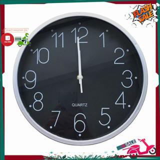 Đồng hồ treo tường cao cấp Quartz Black